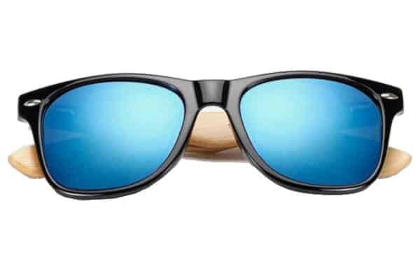 Lunettes en bois bleu