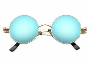 Lunettes rondes bleu