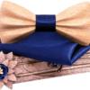 Coffret noeud papillon excentrique Marron clair bleu nuit