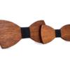 Noeud papillon en bois pere fils noir