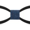 Noeud papillon en bois élagué noir bleu jean